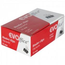 CLIPS HARTIE 51MM EVOFFICE 12 BUC/CUTIE EV3B06