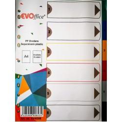 GOL SEPARATOARE INDEX PLASTIC 6 CULORI EVO EV4G08