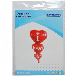 RO BALON ALUMINIU I LOVE YOU 15228