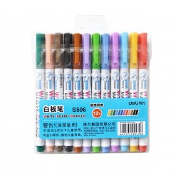 LEC MARKER WHITEBOARD DELI 2MM SLIM 12/SET DLES506