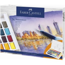 LEC ACUARELE FABER-CASTELL CREATIVE STUDIO 36/SET FC169736