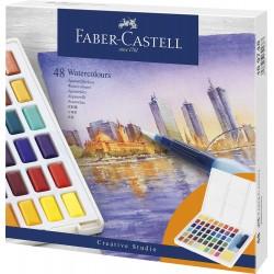 LEC ACUARELE FABER-CASTELL CREATIVE STUDIO 48/SET FC169748
