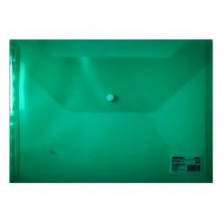 LEC MAPA PLASTIC A4 DELI CU BUTON VERDE DLEF10452