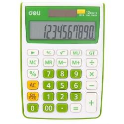Lec Calculator Birou Deli 12 Dig Alb-verde Dle1238g