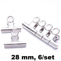 CLIPSURI INOX 28MM 6/SET DL0015