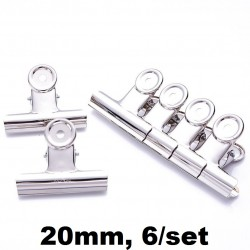 CLIPSURI INOX 20MM 6/SET DL0016