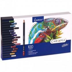 Pen Creioane Colorate Marco Chroma 100/set 5632 Cutie Metal