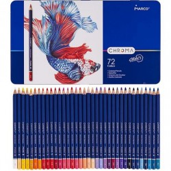 Pen Creioane Colorate Marco Chroma 72/set 5633 Cutie Metal