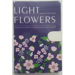 Leg Jurnal Light Flowers B6 Cu Clapa Magnetica J96