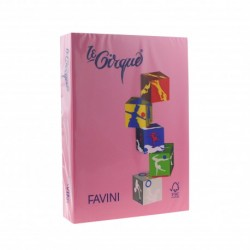 CARTON COLOR A4 160GR 250/SET FAVINI PINK