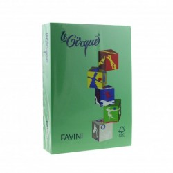 CARTON COLOR A4 160GR 250/SET FAVINI SPRING GREEN