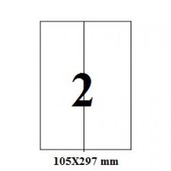 ETICHETE AUTOADEZIVE 2/A4 VERTICALE 100/SET