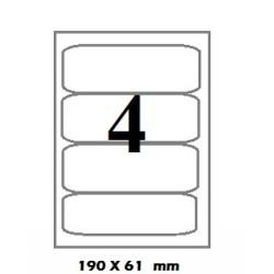 ETICHETE AUTOADEZIVE 4/A4 ORIZONTALE 100/SET