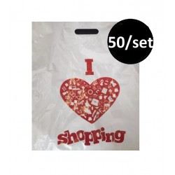 EXO SACOSA MAIEU PRS I LOVE SHOPPING 30*50*0.05CM 50/SET