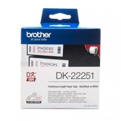 BANDA BROTHER 62MM BLACK&RED ON WHITE CONT PAPER ROLL DK22251