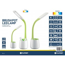 Lampa de birou Platinet PDLJ5 43882 cu organizator de birou. flexibila. 6.5W. 5500K