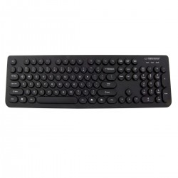 Tastatura Esperanza Retro EK131. cu cablu 150 cm si conectare USB. taste low-profile. neagra
