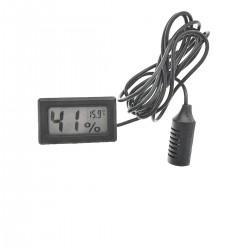 Termometru digital 8015A. si indicator umiditate. cu afisare LCD. negru