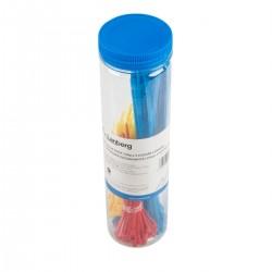 Set 150 coliere din plastic. Lanberg 41450. pentru prinderea cablurilor. 3 culori. 2.5mm X 100mm si
