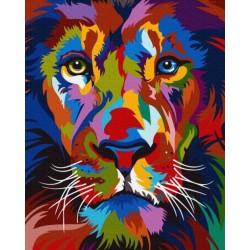 Pr Set Pictura Pe Numere Gx35770 Bright Portrait Of A Lion