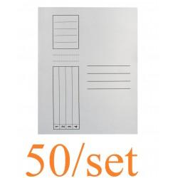 Pa Dosar Plic Carton Alb 50/set 22000025