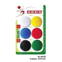 ARD MAGNETI 40MM 6/SET ACL03