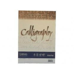 ADA BLOC CALIGRAFIE A4 50 FILE 100GR/M2 FAVINI CANVAS IVORY