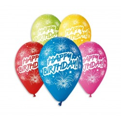 God Baloane Latex Gemar Happy Birthday 30cm 5/set Gs110/p041