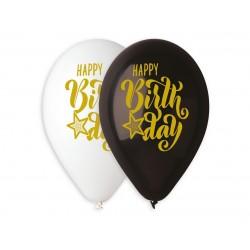 God Baloane Latex Gemar Happy Birthday 33cm Mix 5/set Gs120/891