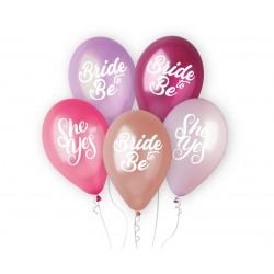 God Baloane Premium Helium Ballons, Ladies Night, 33cm, 5/set Gms120/lng