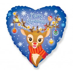 God Balon Folie Aluminiu Merry Christmas - Reindeer, 46cm 201511