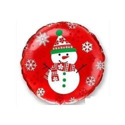 God Balon Folie Aluminiu Snowman, Circle, 46cm 401530