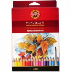 KOH CREIOANE COLOR AQUARELL MONDELUZ 36/SET K3719-36