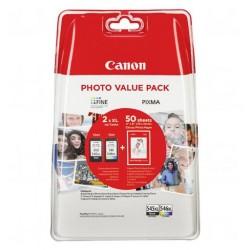 CARTUS CANON PG 545XL BK SI CL 546XL COLOR +HARTIE FOTO