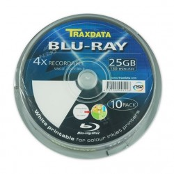 NEO BLU-RAY TRAXDATA 25 GB PRINTABIL 10/SET