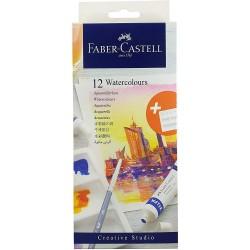 Lec Tempera Faber-castell 12/set X 9ml Si Paleta Fc169612
