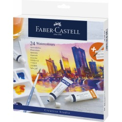 Lec Tempera Faber-castell 24/set X 9ml Si Paleta Fc169624