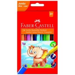 Lec Creioane Colorate Faber-castell Jumbo Triunghiulare 24/set Fc116524